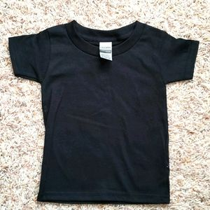 Black Gildan Toddler Shirt